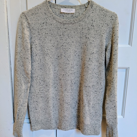 Everlane Cashmere Donegal Frost Sweater